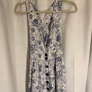 Forever 21 Floral overall dress
